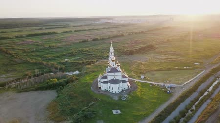 ekaterinburg : Ekaterinburg. Annunciation Church of the Saints of Gods Builders. Academic district. SunSet, From Dron