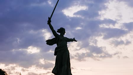 mamaev : Russia, Volgograd - August 28, 2017: Sculpture Motherland Calls! - compositional center of monument-ensemble to Heroes of Battle of Stalingrad on Mamayev Kurgan