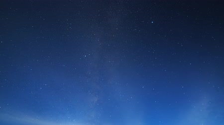 milkyway : Stars and clouds. Night landscape. Russia Stock Footage