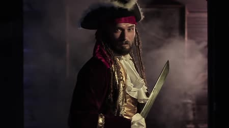 pirat : Pirate in slow motion Wideo