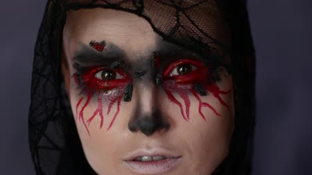 Woman in make-up. Halloween image