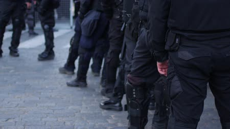 special police : Special police units for protection at demonstrations and rallies.