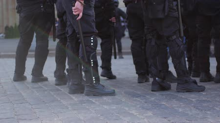 policista : Special police units for protection at demonstrations and rallies.