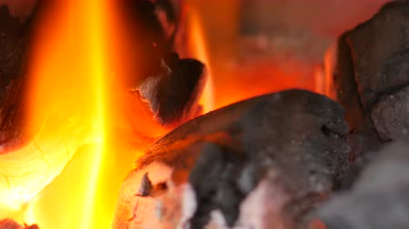 charcoal stove : Close up flame coals and be very hot