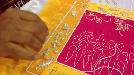 tajlandia : Thai embroidery. Wideo