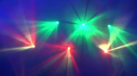 changer : Moving multicolor projector spot lights on stage, HD 1080i Stock Footage