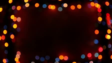 borders : Blinking frame with bokeh lights, HD 1080p, loop Stock Footage
