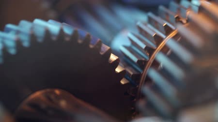fogaskerék : Gears with cogs in action. HD 1080p, Loop. Stock mozgókép