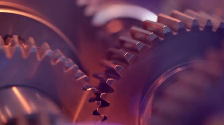 akció : Gears with cogs in action. HD 1080p, Loop. Stock mozgókép