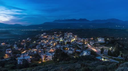 ida : Day to night time lapse at Kamilari village