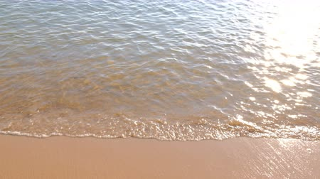 Sand in water on background of Andaman Ocean in Thailand.  Natural landscape of Thailand. Peace and quiet.