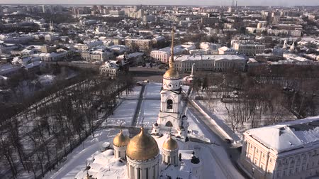 noel zamanı : Flight over the Assumption Cathedral. Vladimir. Russia.