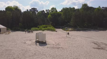Beach in Jurmala, spring, sea, people on vacation