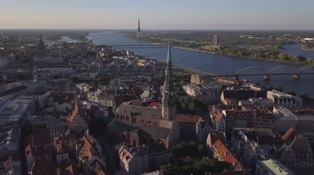 Aerial view over the Old Riga City