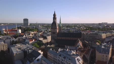 latvia : Aerial view on Dome cathedral in Old Riga City.