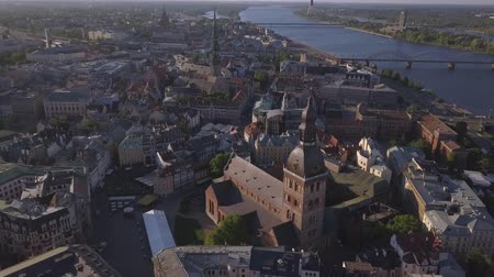 Aerial view on Dome cathedral in Old Riga City.