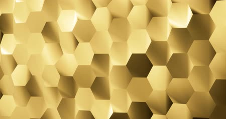 шесть : 3D rendering Noise hexagon background in gold color