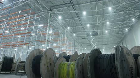 eljárás : coils with wires in modern industrial warehouse