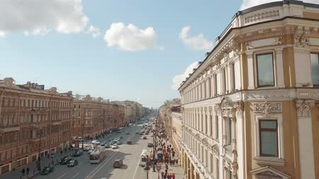 святой : Aerial view of of European city centre street