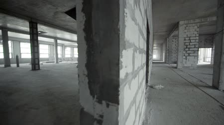 housing problems : Building construction site interior empty view.