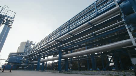 polymers : Pipeline equipment at petroleum refinery. Oil industry. Petrochemical refinery