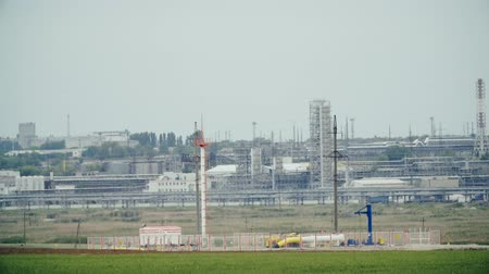 polymers : Industrial landscape territory petrochemical plant. Oil industry. Fuel industry