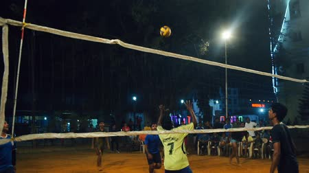röplabda : Player gets hard serve and team win point during tournament. INDIA, NEPAL , APRIL 2018