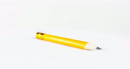 grafit : Office wooden pencil on white background isolated.