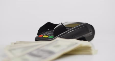benefício : Picture of credit card payment terminal