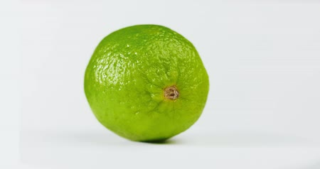 citron : Close-up of ripe lemon fruit isolated on white background Stock Footage