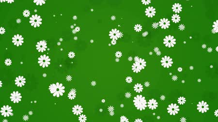kamilla : Abstract green motion background with flowers