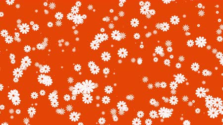 camomila : Abstract orange motion background with flowers