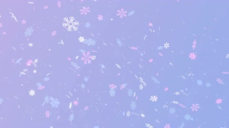 Magic colorful snowflakes on the blue background Stock Footage