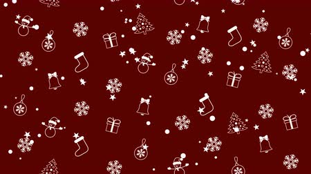 sněhulák : Christmas background pattern with Christmas trees, snowmen, snowflakes and Christmas balls Dostupné videozáznamy