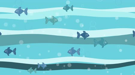 Abstract marine background with fishes