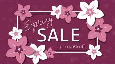 Spring sale, fifty percent discount Stock Footage