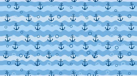 Sea background pattern with anchors