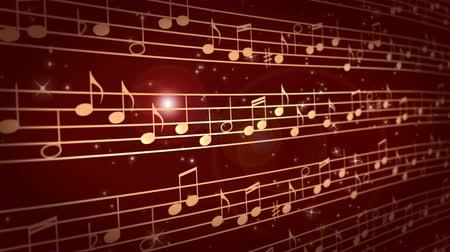 Abstract music background with notes Filmati Stock