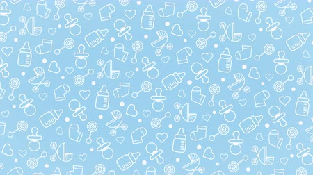 Rotating Baby background pattern Stock Footage