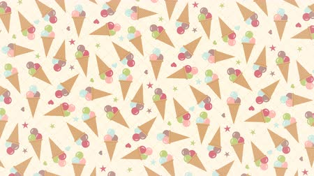 ワッフル : Ice cream rotating background pattern