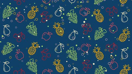 ananász : Summer colored background with fruit