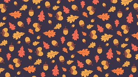 meşe palamudu : Acorns and oak leaves, autumn background