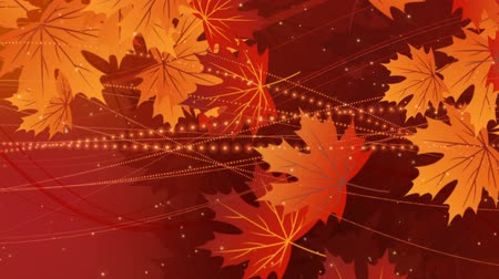 fallen : Autumn background with falling leaves