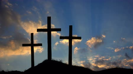 crucifixo : Three Crosses on a Hill at Sunset HD