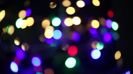 blurred lights : Abstract background with shining bokeh multi colour footage.