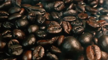 smak : The footage coffee roasted camera movement. Wideo