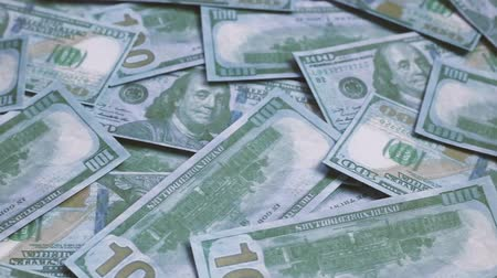 one hundred : Footage United states of America dollar banknotes. Stock Footage