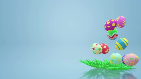 kwiecień : The Easter egg  3d rendering for holiday content.