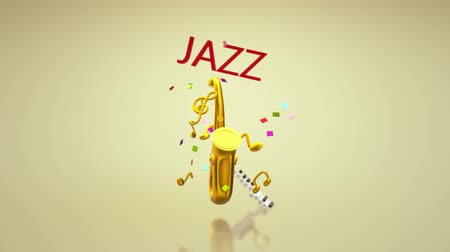 음악회 : The 3d rendering saxophone jazz music festival content.