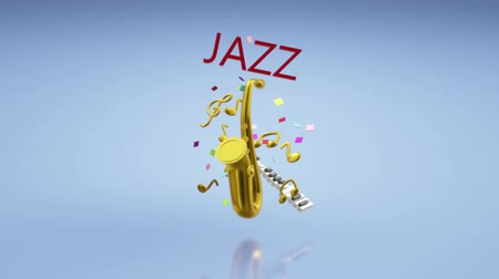 jazz festival : The 3d rendering saxophone jazz music festival content.